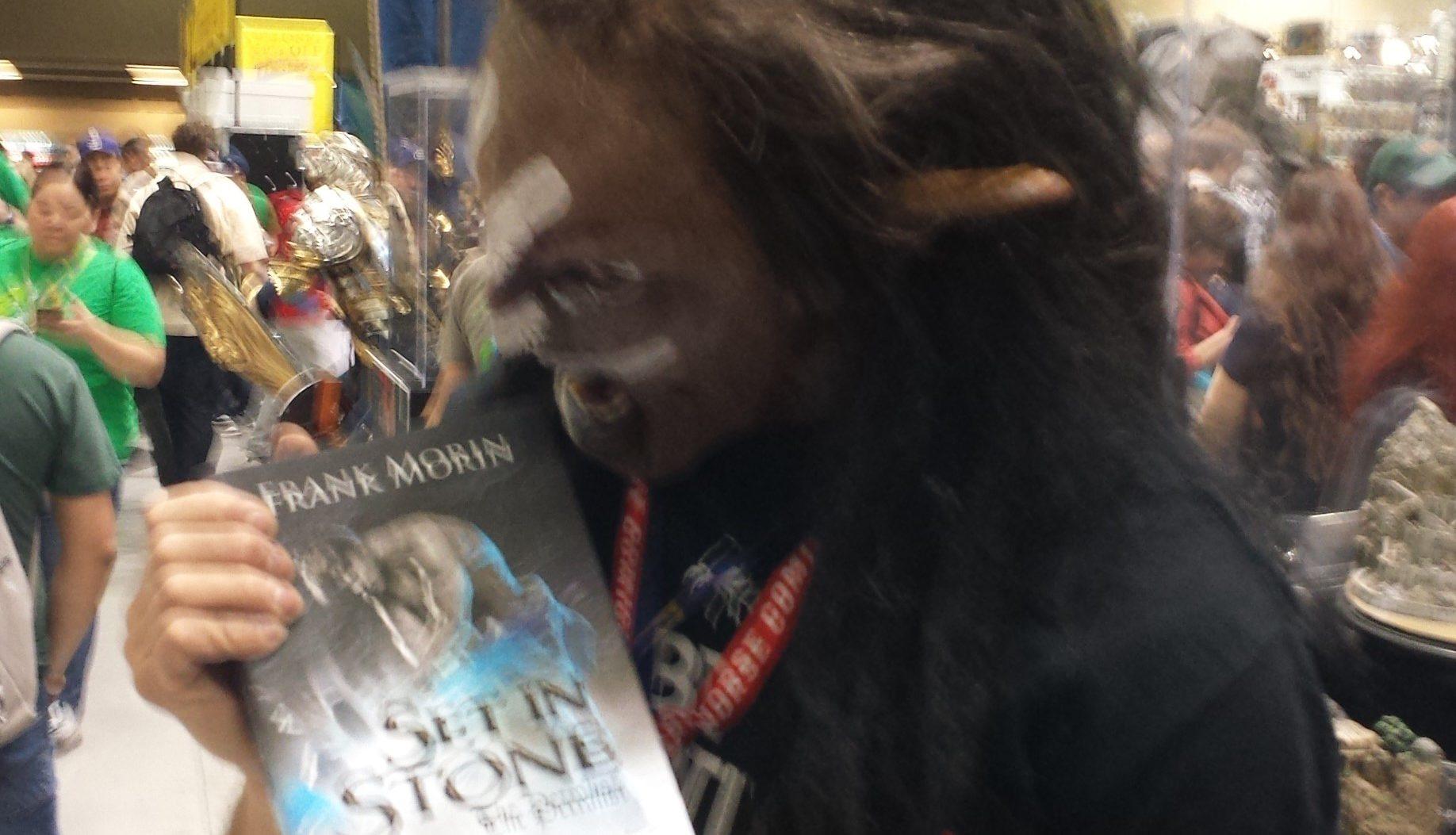 Uruk'hai eating a book