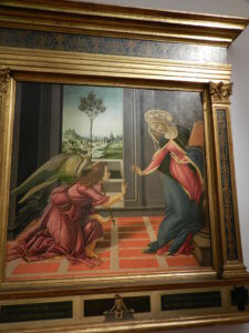 Florence, Italy. Annunciation by Botticelli