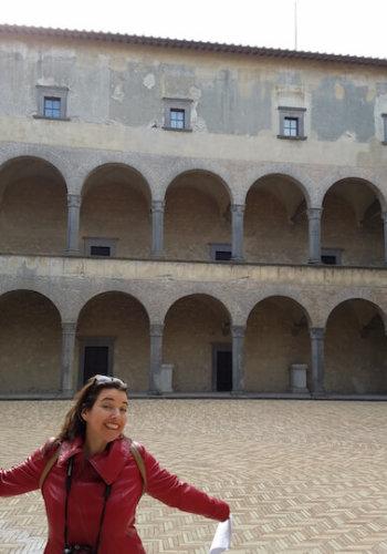 Odescalchi castle courtyard