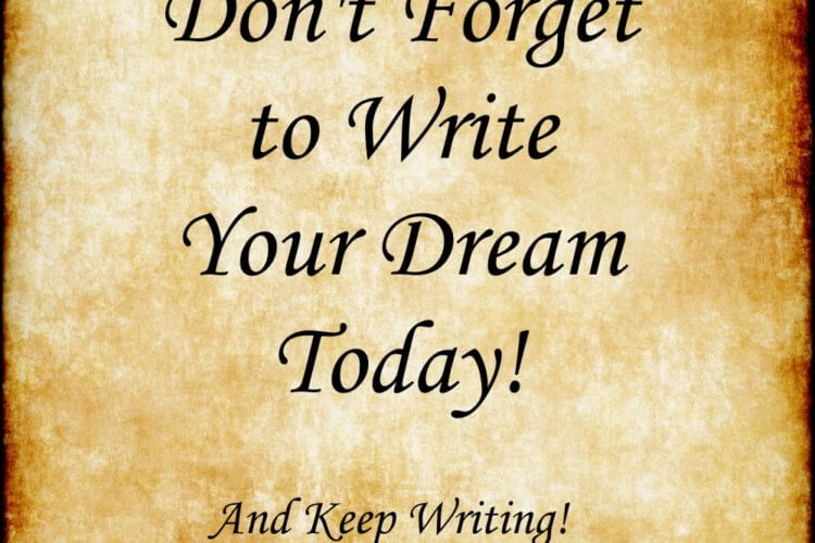 Write Today - And Keep Writing